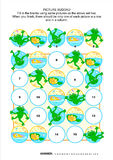 Picture sudoku puzzle with frogs and pond Stock Photo