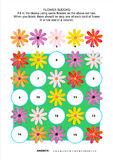 Picture sudoku puzzle with gerbera daisy flowers Stock Image