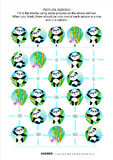 Picture sudoku puzzle, panda bears themed royalty free stock images
