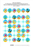 Picture sudoku puzzle, underwater themed Royalty Free Stock Photo