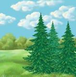 Picture, summer landscape Stock Images