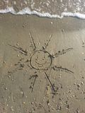 Picture of sun on sand beach Royalty Free Stock Photography