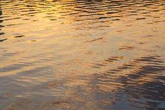 Picture of the surface water in sunset. Picture of the surface water in the sunset time stock image