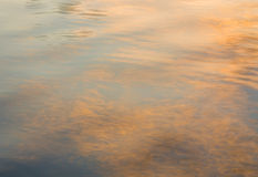 Picture of the surface water in sunset. Picture of the surface water in the sunset time royalty free stock photography