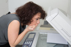 Picture of surprised business woman Stock Image
