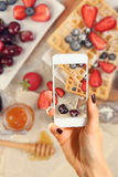 Picture of sweet waffles Royalty Free Stock Images