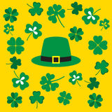 Picture from symbols of the St. Patrick's Day Stock Images