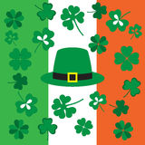Picture from symbols of the St. Patrick's Day on the background Stock Photos