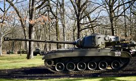 T26E4 Tank. This is a picture of a T26E4 Tank on display at the Cantigny Tank Park located in Winfield, Illinois in DuPage County.  The T26E4 was never Stock Images