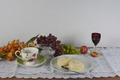 The picture of the table of foods royalty free stock images