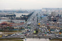 Picture taken from Azadi tower. Persian city around Azadi Square on december Royalty Free Stock Photography