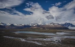 Sandur, Skaftafell and Glaciers of Iceland Royalty Free Stock Images