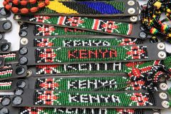 Souvenir market in Nairobi Capital, Kenya royalty free stock image