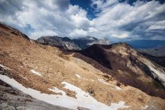 Apuan alps, direction East. Picture taken during my trekking in the apuan alps Italy Royalty Free Stock Images