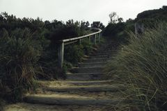 Stairway at the Beach of Australia stock images