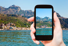 Picture of Taormina - popular tourist resort Royalty Free Stock Photography