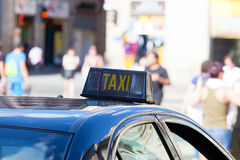 Picture of a taxi shield Royalty Free Stock Images