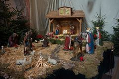Nativity of Jesus, birth of Jesus royalty free stock photo
