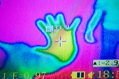 Picture of thermal imager. The picture of thermal imager Royalty Free Stock Photos