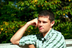 Picture of a thinking man Royalty Free Stock Photography