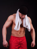 Picture of tired athlete Royalty Free Stock Images