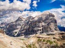 Le Tofane in Dolomites Italy royalty free stock photos