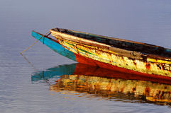 Picture of traditional boats captured in Senegal Royalty Free Stock Images
