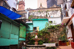 Picture of a traditional courtyard patio at Taxco, Guerrero. Mex Royalty Free Stock Photo
