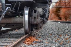Train. Picture of a train on train tracks Royalty Free Stock Photography