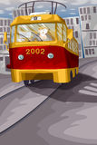 Tram driver character cartoon style  illustration Stock Images