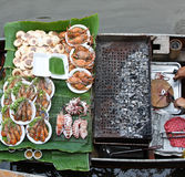 This picture transfers at the floating market Stock Images