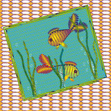Picture of two colored fish Royalty Free Stock Photos