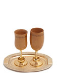 Picture of two retro-styled wineglasses Stock Photography