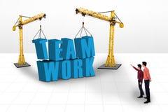Building teamwork concept Stock Photo