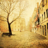 Venetian square with vintage style texture stock images