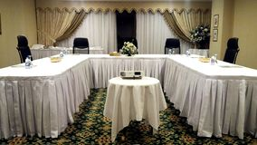 Picture of U-Shape Setup for a Conference. stock image