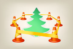 Picture of Untitled-2. Illustration of christmas under construction with cones Royalty Free Stock Images