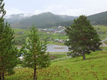 Picture of the valley after the rain royalty free stock photography