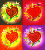 Picture of various colors of heart. There is a picture of the heart for design, congratulation cards and so on Stock Photo
