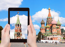 Picture of Vasilevsky Descent on Moscow Red Square Stock Image