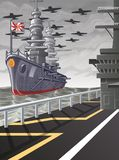 This picture is a vector world war. royalty free illustration