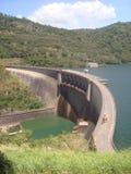 Famous Victoria Dam of Sri Lanka stock photo