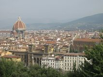View of Florence. A picture of a view of Florence taken at a daytrip during a vacation in Toscane, Italy in the summer Royalty Free Stock Photo