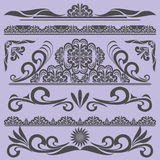 Vintage borders & design elements - vector set. Royalty Free Stock Photo