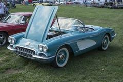 Vintage corvette convertible Stock Photography