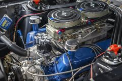Race car engine Stock Images