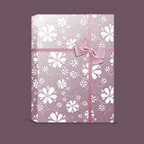 Picture of violet gift with small flowers Stock Images