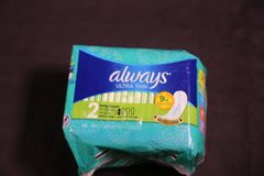 Always- brand name for maxi pads for women stock image