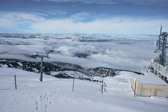 Cloud Sea View - Chamrousse France stock photography