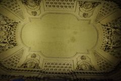 Interior roof structure of Church royalty free stock photo
